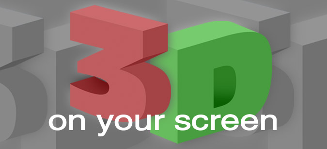 3D on your screen